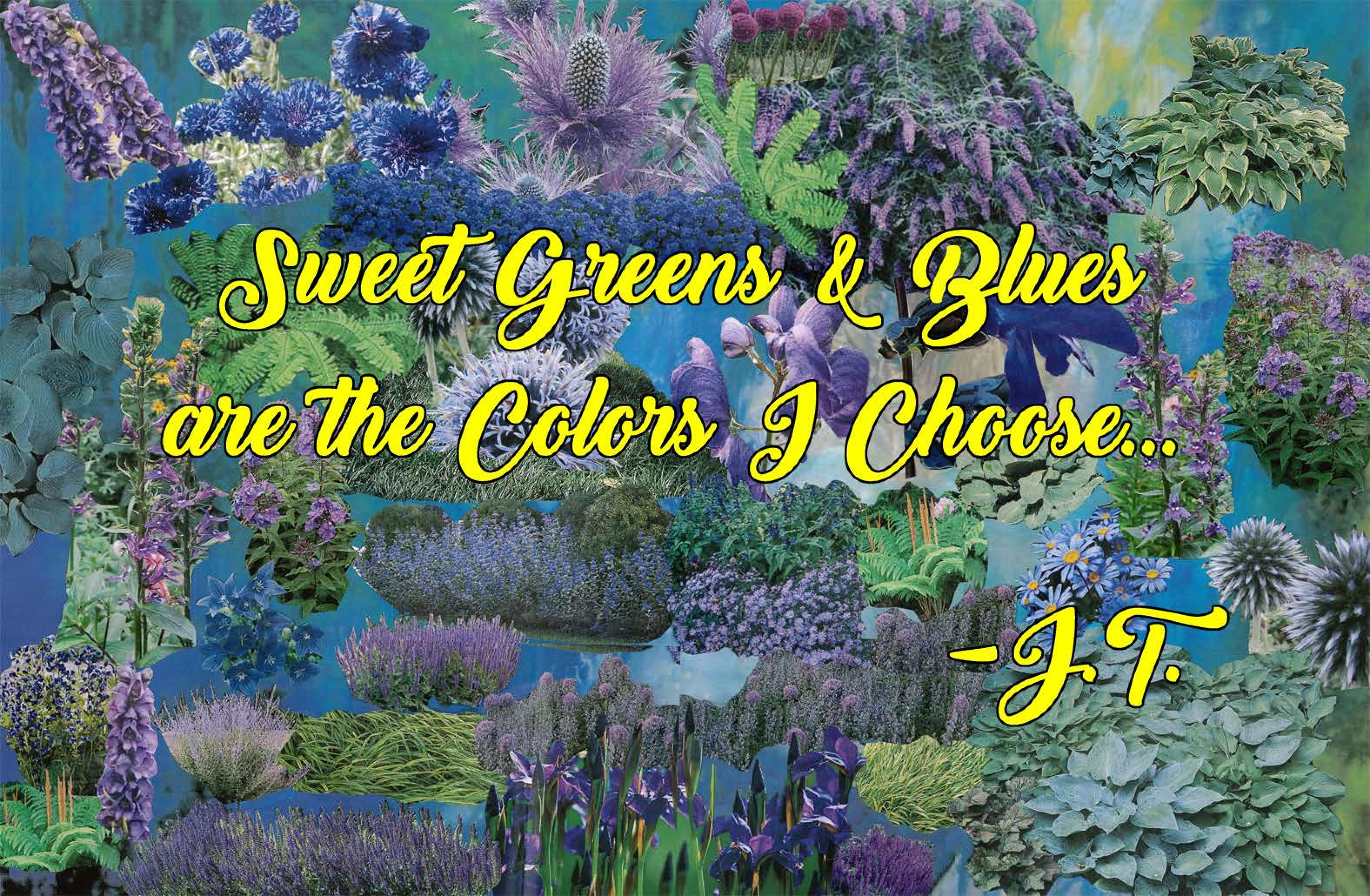 Tailoring Your Garden with Deep Greens and Blues